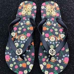 Tory Burch Floral Flip Flop Sandals